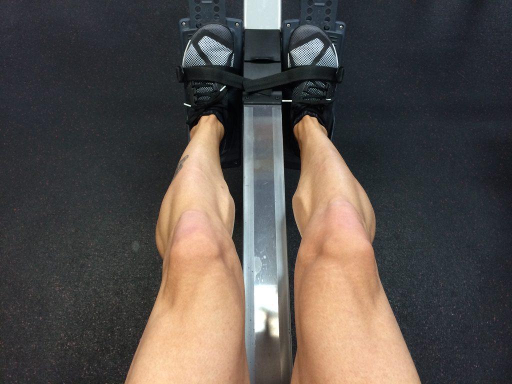 rameur jambe